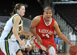 Kaleena Mosqueda-Lewis can get to the basket or shoot from the perimeter.