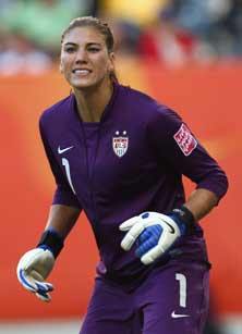 Before goalkeeper Hope Solo helpedthe United States win the 2011Women's World Cup opener, shewas a star goal scorer atRichland (Wash.) in high school.