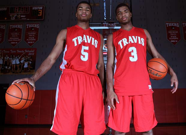 Andrew Harrison (left) and his twin brother, Aaron, are the No. 2 and No. 3 overall prospects, respectively, in Class of 2013.