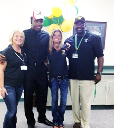 Derrick Henry with administrators the day he committed to Alabama.