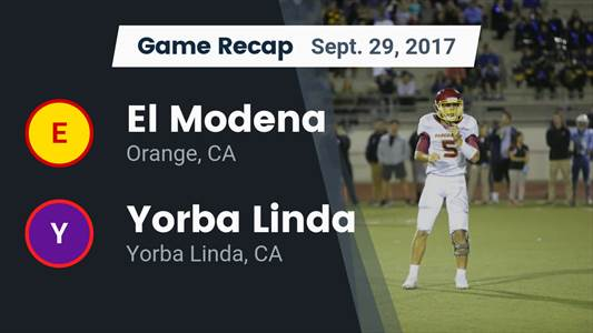 Football Game Preview: Yorba Linda vs. Don Lugo