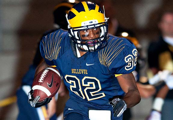 Bishard Baker brings a level of speed to Bellevue that the Wolverines have not had in the past.