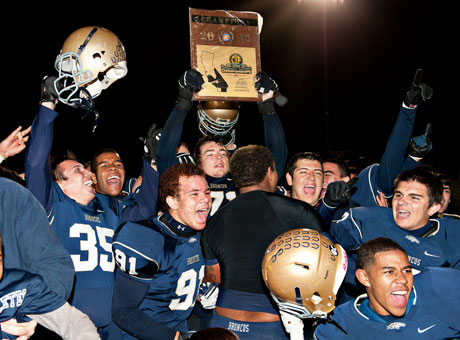 Vista Murrieta overcame forfeits last season to win the Inland Division. Despite a perfect on-the-field record, the team was passed-up for a State Bowl Game berth. Vista Murrieta seeks its fourth-straight title game appearance.