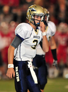 Josh Rosen had a tough night for Bosco.