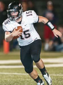 Trinity quarterback Matt Hawkins.