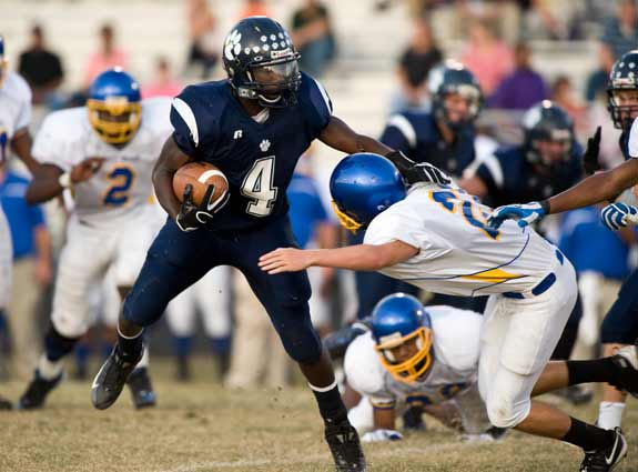Keith Marshall, shown here as a sophomore, exhibited signs of talent right from the start of his high school football career.