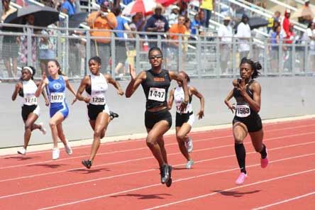 Kendall Baisden has fought back from a hamstring injury to place third in the USATF Junior Nationals.