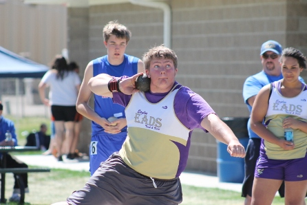 Eads junior Daniel Weirich has the top mark in the state in the shot put this season, regardless of classification.
