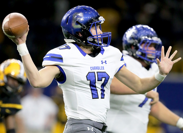Chandler quarterback Jacob Conover threw for three touchdown passes.