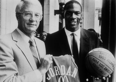 Michael Jordan scored 30 points in the 1981 McDonald's All-American Game played in Wichita, Kan.