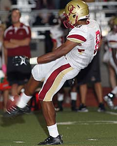 Owusu plays offense, defense and even  punts for the Lions.