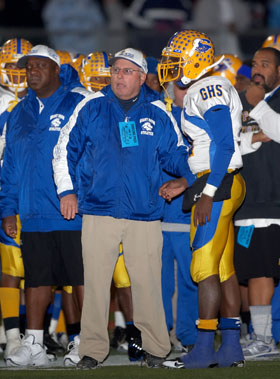 Grant coach Mike Alberghini has 635 wins in two sports.