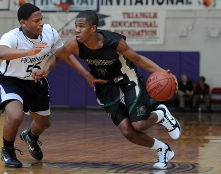 Louisville commitment Anton Gill of Ravenscroft continued his huge junior campaign with 34 points in a win over Christ School last week.