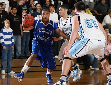 Damian Lillard as a senior at Oakland High in a 2008 playoff game at Bellarmine. The under-recruited Lillard eventually earned a scholarship to Weber State. On Wednesday, he was a unanimous NBA Rookie of the Year selection.