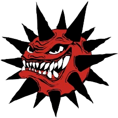The current Rock-a-Chaws logo features amuch more menacing grin than theprevious one.