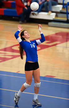 Emily Sklar didn't play volleyball until the ninth grade.